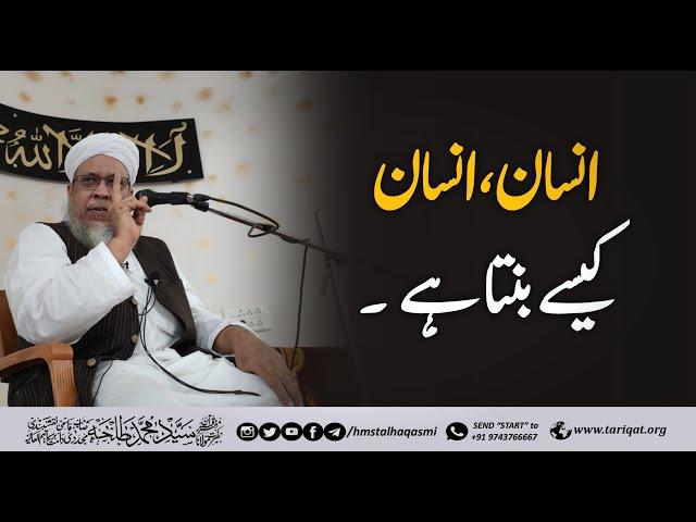 Insaan, insaan Kaise Banta Hai | Hazrath Maulana Sayyed Muhammad Talha Qasmi Naqshbandi Mujaddidi DB
