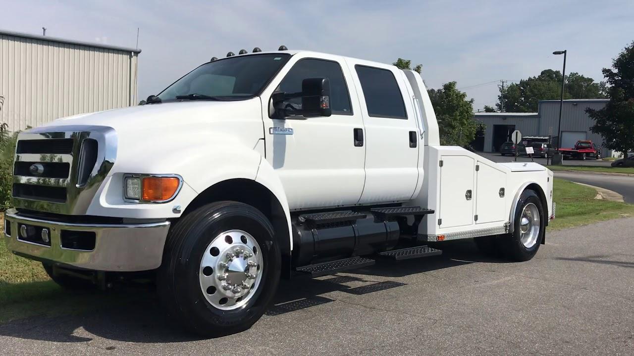 small resolution of 2008 ford f 650 super duty xlt cummins diesel crew cab custom hauler sold