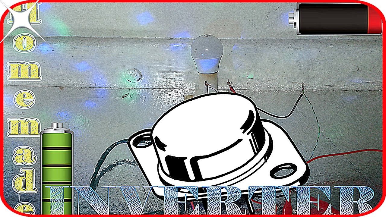 How To Make Inverter At Home 220v With No Skills In Electronics Simple High Power By 2n3055