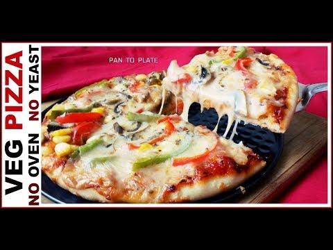 Domino's जैसा पिज्ज़ा घर पर कढ़ाई में कैसे बनाये || full Pizza in kadai recipe || Market Style Pizza