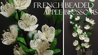 French beaded apple blossoms pattern and tutorial/ free pdf
