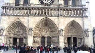 Notre Dame de Paris Church, Notre Dame de Paris Cathedral Christmas Eve, Montmartre, The Louvre
