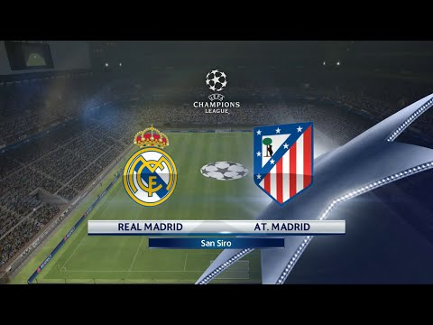 PES 2016 - UEFA Champions League Final - Real Madrid vs Atletico Madrid (1-0)