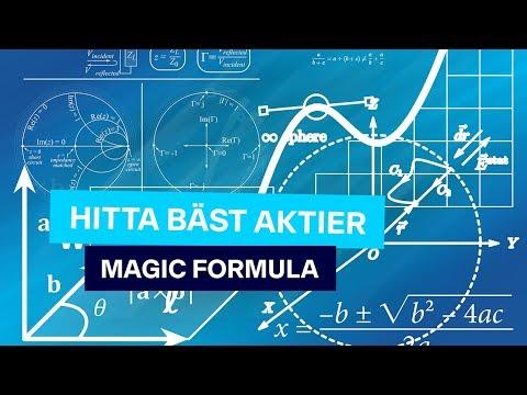 Magiskt sätt att Hitta Bäst Aktier  Magic Formula