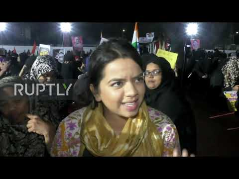India: Women stage massive protest against citizenship law in Mumbai
