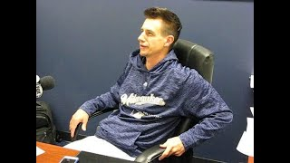 Video: Brewers manager Craig Counsell discusses weather, injuries and more
