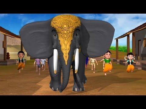 Enugamma Enugu - Elephant 3D Animation Telugu rhymes with Lyrics for children