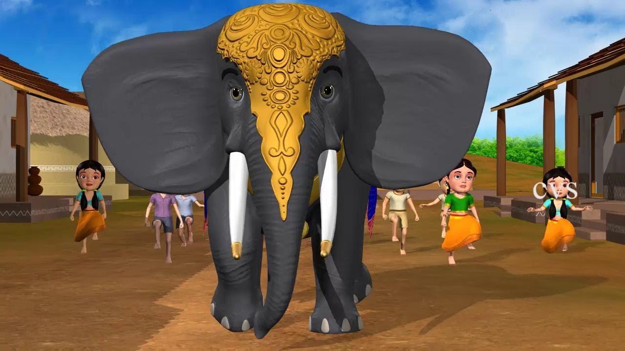 Download Enugamma Enugu - Elephant 3D Animation Telugu rhymes with Lyrics for children