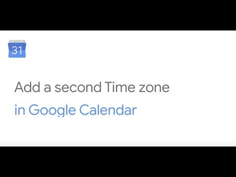 How To: Add a secondary time zone in Google Calendar