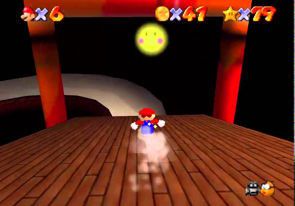 Super Mario 64 - Tall, Tall Mountain - Star 4: Mysterious Mountainside