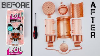 What's Inside An Lol Surprise Hair Goals Gold Capsule? How It's Made! Lol Makeover Series 5 Unboxed!