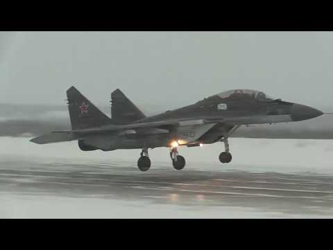 Mig 29K practiced difficult weather conditions of the Arctic