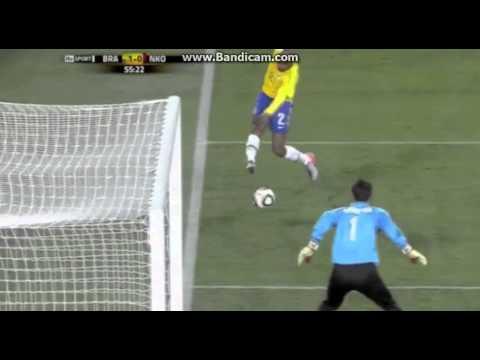Maicon's Goal Vs North Korea World Cup 2010 (No Shakeings)