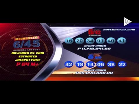 [LIVE]  PCSO Lotto Draws  -  November 22, 2018 9:00 PM
