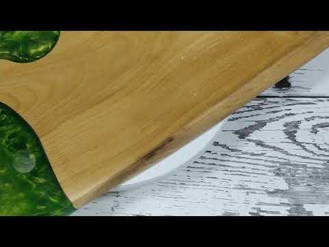 Resin epoxy wood Servingboard