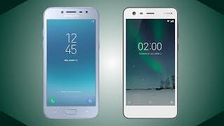 Samsung Galaxy J2 Pro 2018 vs Nokia 2 Comparison (Grand Prime Pro)