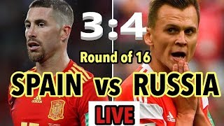 Live Streaming 2nd Round Spain VS Russia full match 2018 world cup today match MiKi TV Live