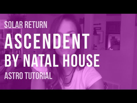 ASTRO TUTORIAL: Natal House Placement of Solar Return Ascendent