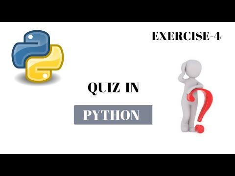 #24 Python Tutorial for Beginners | Quiz_4 | Python Exercise thumbnail