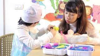 Bé Bống Elsa làm bác sĩ khám bệnh cho gấu bông💗Đồ chơi trẻ em/ Đồ chơi bác sĩ