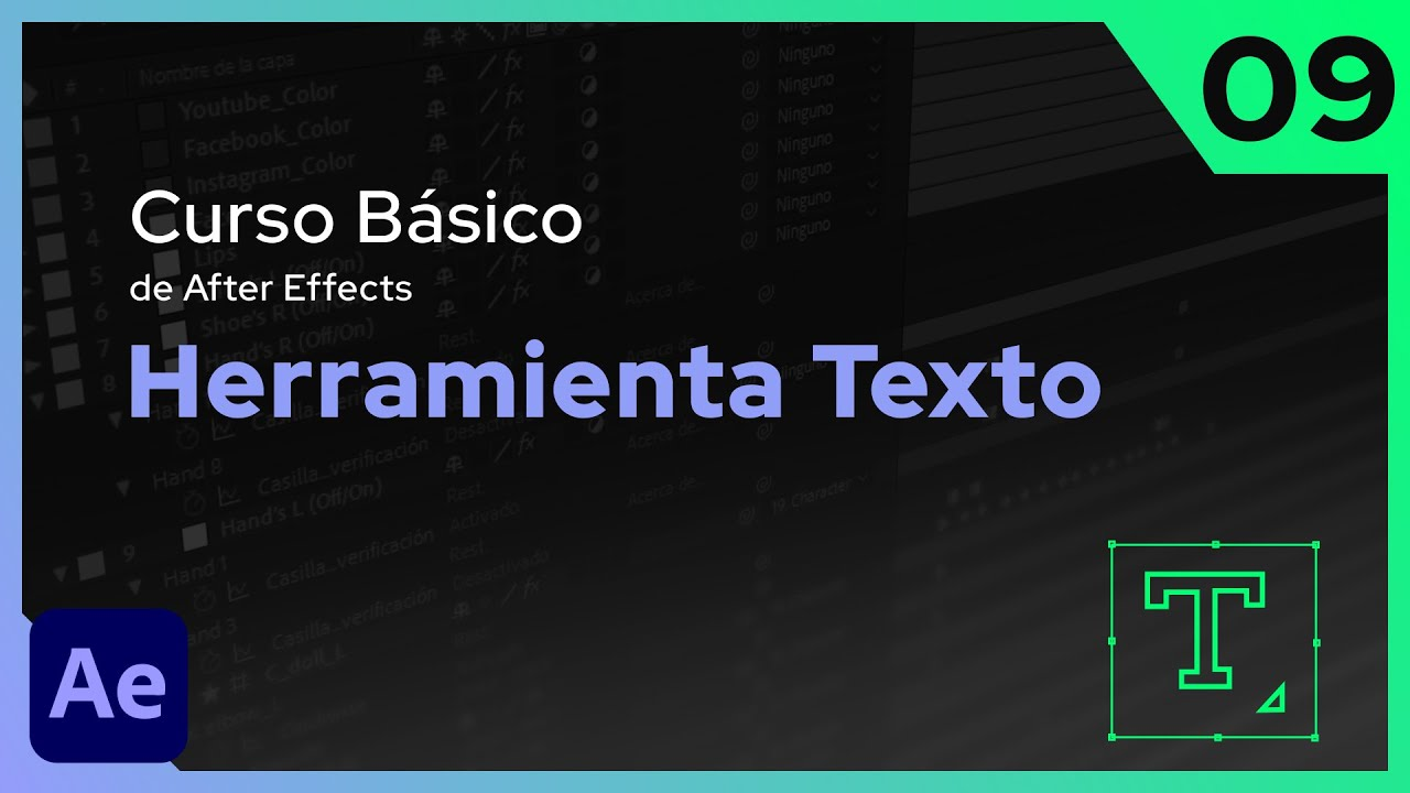 Herramienta Texto | After Effects - Tutorial
