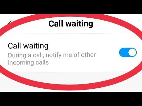 Redmi note 5 pro || How To Enable Call Waiting