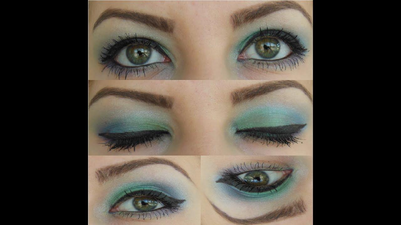 Get Ready With Me: Green/ Blue/ Aqua Eyeshadows (Cheap Make up ...