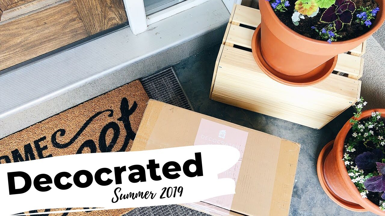 Decocrated review summer 2019 home decor subscription box - Home decor subscription box ...