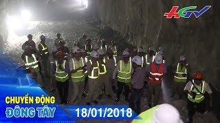 Thông hầm đường bộ qua đèo Cù Mông   CHUYỂN ĐỘNG ĐÔNG TÂY - 18/01/2018