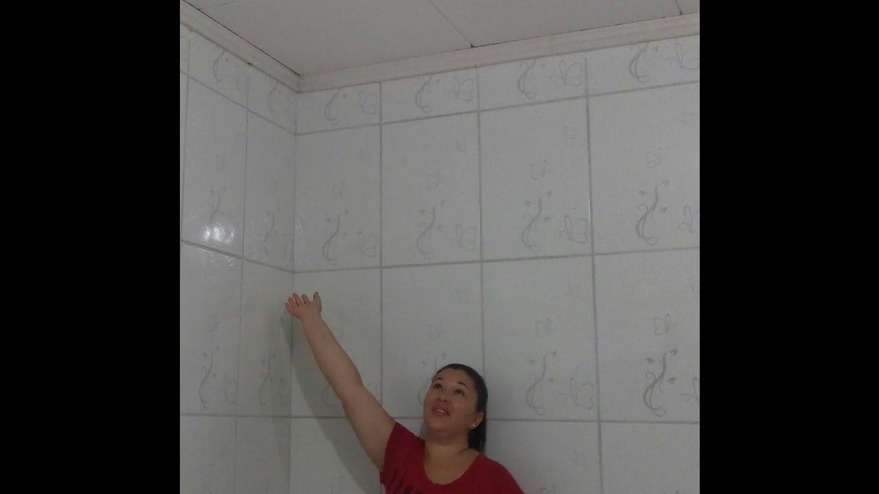 GESSO NO TETO DA COZINHA FINALIZADO ud83d udc4f ud83d udc4f YouTube # Decoração De Gesso No Teto Da Cozinha