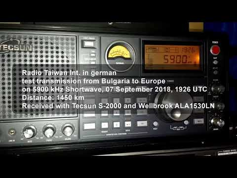 RTI Radio Taiwan Int , Direct and a test transmission, 07 September 2018,  9700 and 5900 kHz