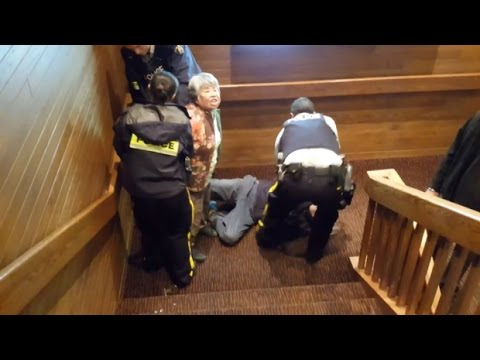Coquitlam RCMP investigating after 2 seniors dragged down stairs by officers