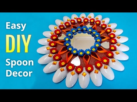 Diwali Decoration Ideas How To Make Wall Decor From Plastic Spoons