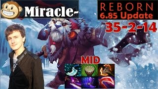 Miracle - Epic Tusk MID Pro Gameplay | 35 Kill in 28 Minute | Dota 2 MMR