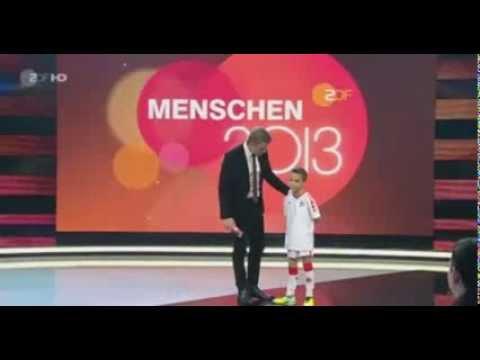 Markus Lanz  Ronay Arabaci ( 8 years )  flink wie Zidane