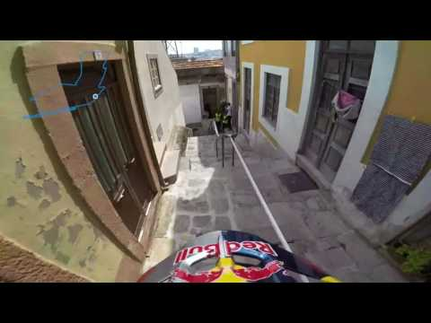 Enduro MX racing through the back alleys of Portugal
