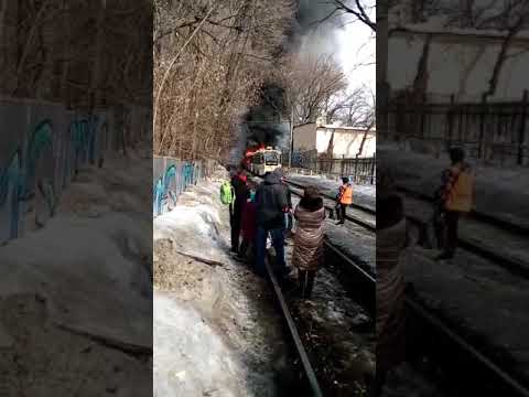 В Саратове горит трамвай2
