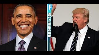 PRESIDENT TRUMP SHREDS OBAMA WITH ONLY 1 SENTENCE    HE'S FINISHED!
