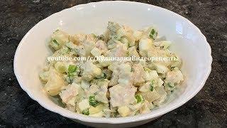 Салат с ананасами  HD 1080p