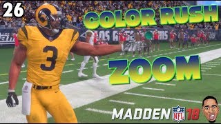 COLOR RUSH BRINGS OUT BEAST MODE ZOOM! Madden 18 Career Mode #26