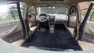 Honda Accord carpet removal & install