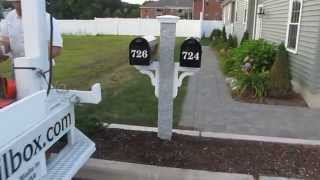 Yankee Double Mailbox Post
