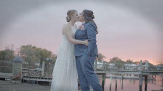 Sydney & Becca's Backyard Waterfront Wedding