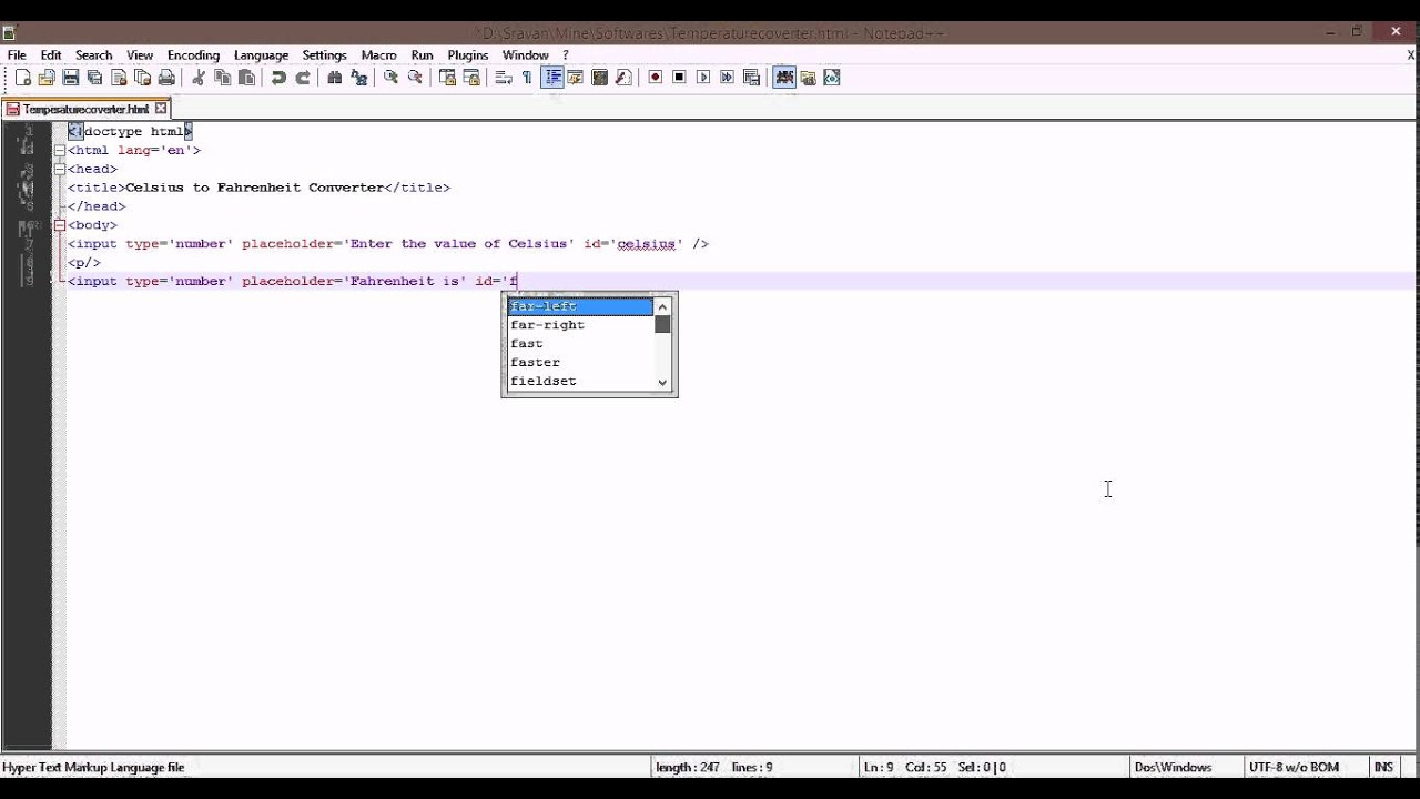 Temperature Converter - Javascript For Beginners