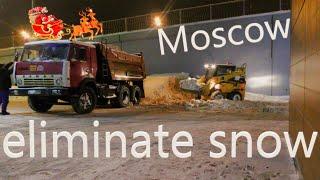 Возим снег на КамаЗе Москва 2019. (Трактор в фокусе)