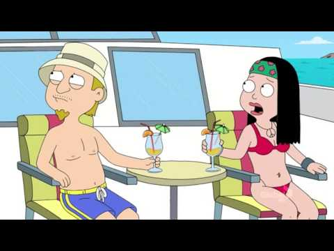American Dad - Rodger & Mia chasing Hayley & Jeff for 50 grand.