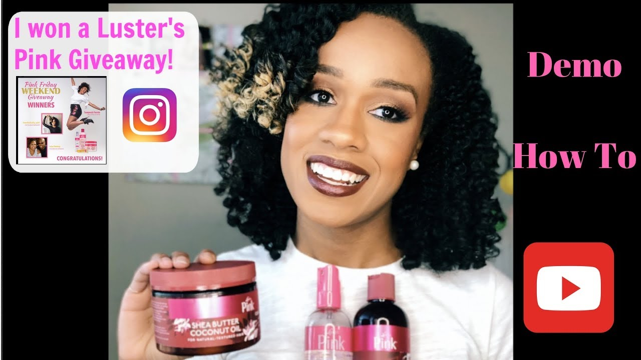 Luster's Pink Shea Butter Coconut Oil Collection| Braid & Curl| Transitioning Hair