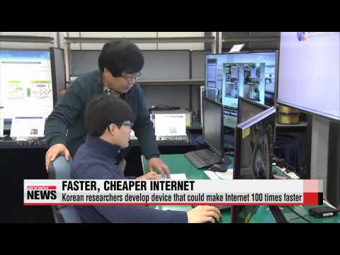 Korean researchers develop new device that could provide ultra high speed Internet