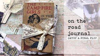 On the Road Journal | Travel Journal Process | Journaling on a Road Trip | Set-Up \u0026 Final Flip-Thru