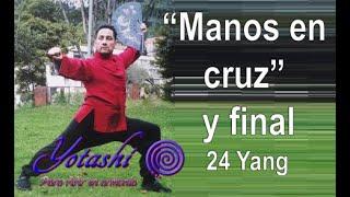 """Mov. 18 ☯ """"Manos en cruz"""", """"Cierre y final"""" ☯ Forma 24 estilo yang. Tai chi fácil."""